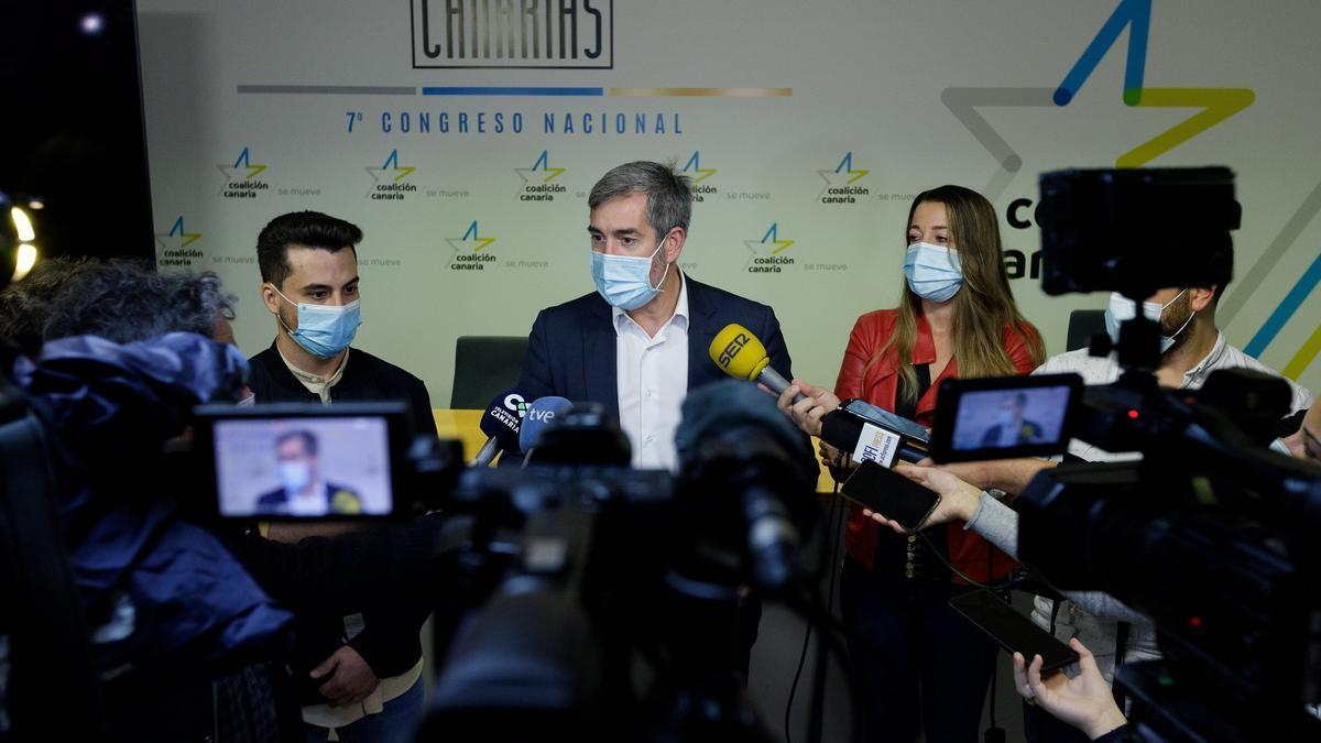 Fernando Clavijo durante la presentación de su candidatura.