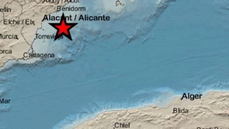 La costa alicantina registra un nuevo seísmo