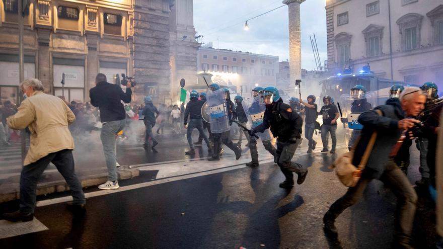 Detenido el líder del partido neofascista italiano Fuerza Nueva tras los disturbios de Roma