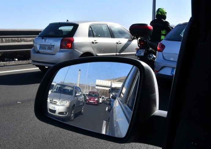 03/02/2020 TELDE.  Reteciones en la carretera GC-3 y GC-1, Jinamar y Marpequeña. Fotógrafa: YAIZA SOCORRO.  | 03/02/2020 | Fotógrafo: Yaiza Socorro