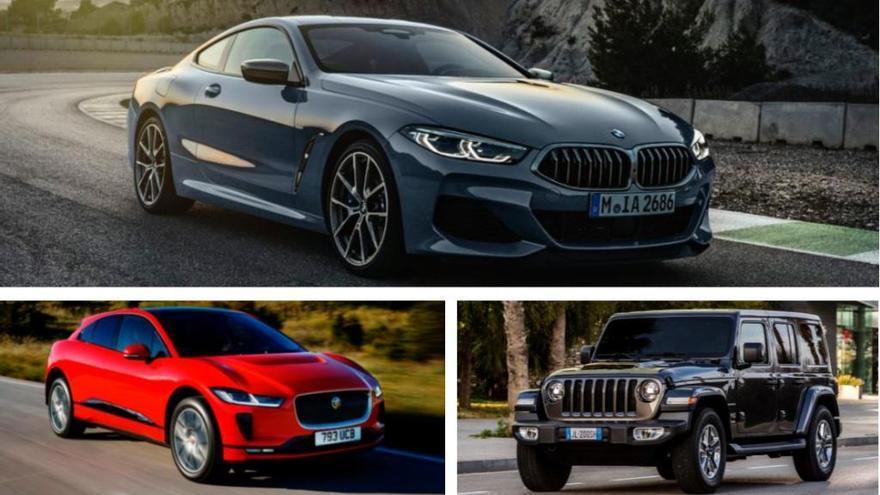 Jaguar I-PACE, BMW Sèrie 8 i Jeep Wrangler nous aspirants a Cotxe de l'Any