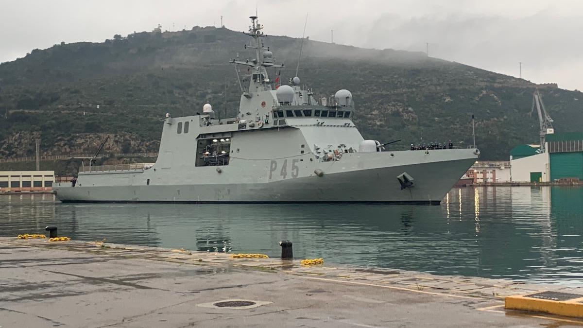 El 'Audaz' ya se encuentra en Cartagena