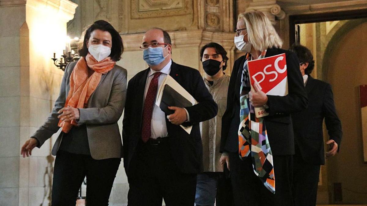 Eva Granados, Miquel Iceta, Assumpta Escarp i Ferran Pedret, aquesta setmana al Parlament