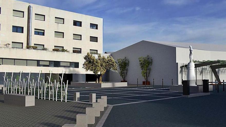 La Clínica Sant Josep de Manresa inicia les obres per fer un pàrquing amb 96 places