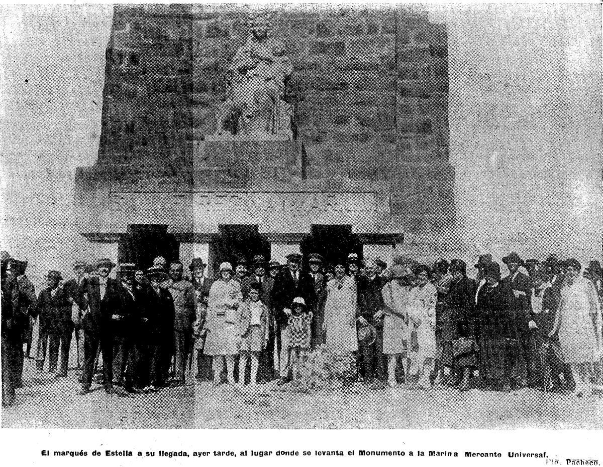 Visita de Primo de Rivera el 7 de agosto de 1928, una vez finalizada la construcción