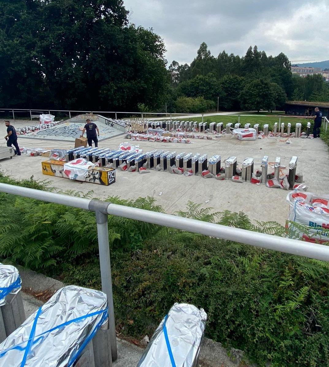 Ricardo Caballer prepara cinco castillos simultáneos en Compostela