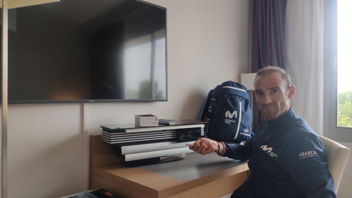 Alejandro Valverde, del Movistar Team, con un BIOW.