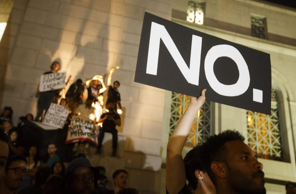 PROTESTA CONTRA LA ELECCIÓN DE DONALD TRUMP