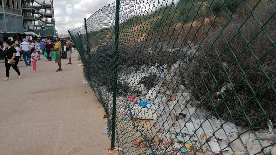 La basura sigue siendo un problema en el entorno del estado Martínez Valero de Elche