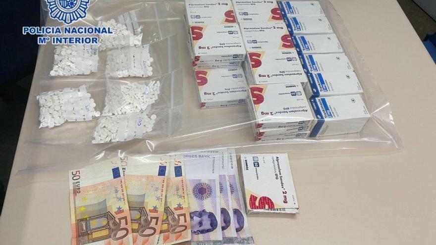 Detenido en Benidorm con 2.500 píldoras de antidepresivos y drogas