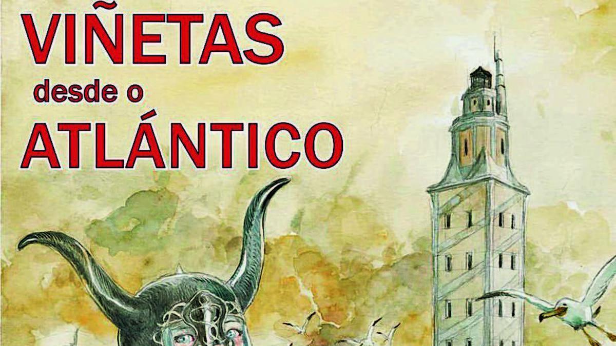 Cartel de Viñetas desde o Atlántico, de Tony Sandoval.