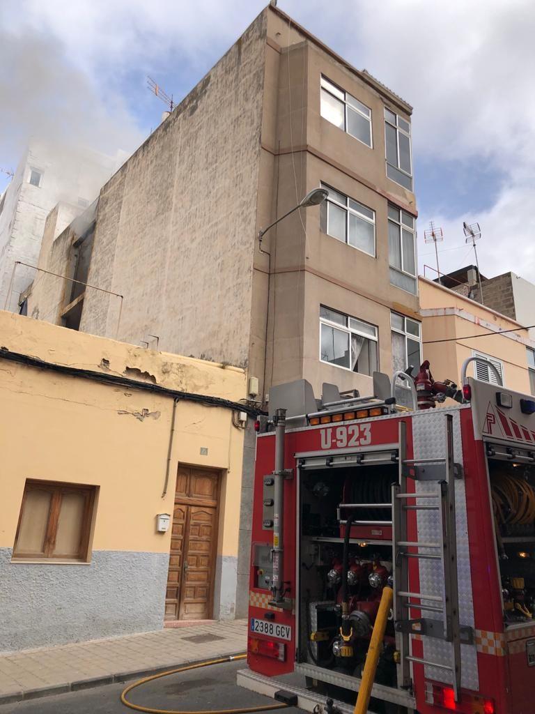 Edificio en el que se produjo el incendio en Guanarteme.