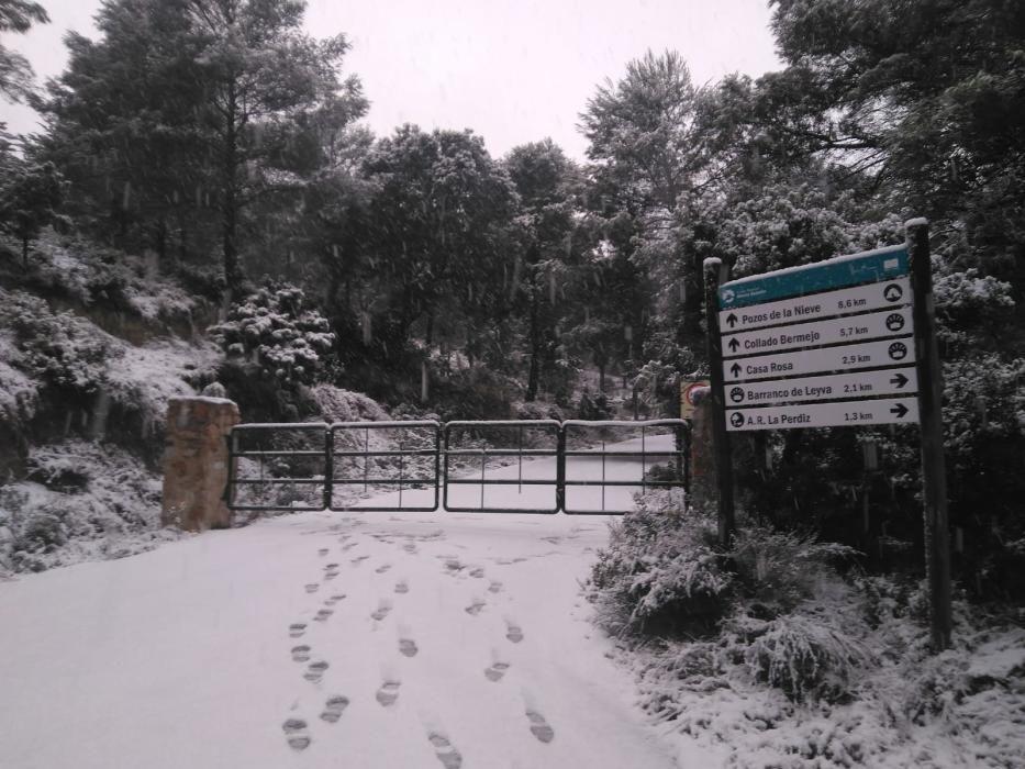 Acceso al parque de Sierra Espuña