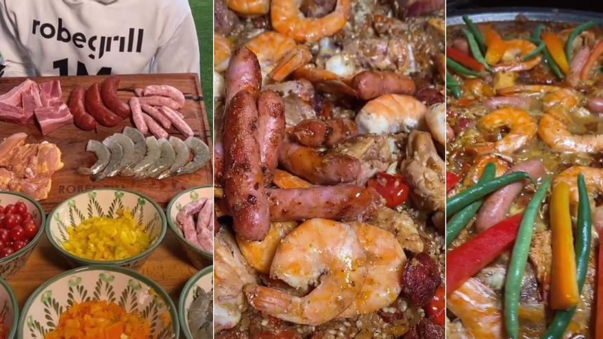 """Una esperpéntica paella que lleva """"de todo"""" se vuelve viral en TikTok"""