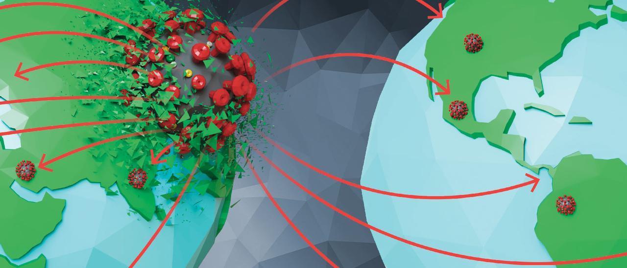Crónica visual de un año de pandemia: así resumirán los libros de texto del futuro el virus que cambió el mundo