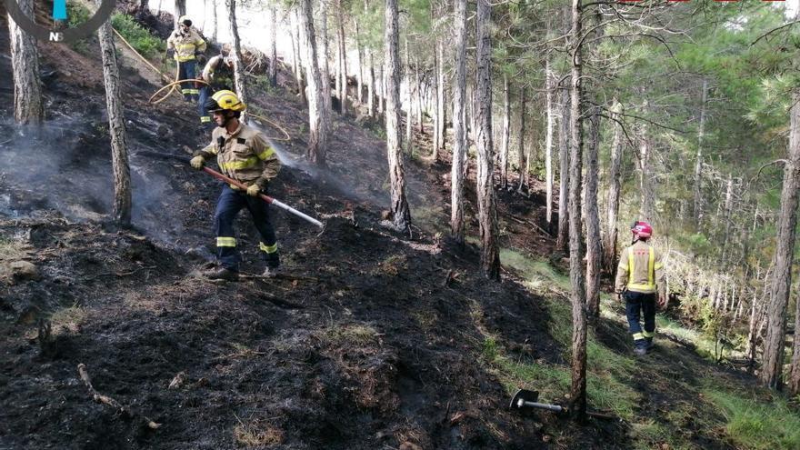 Un llamp provoca un incendi a Navès
