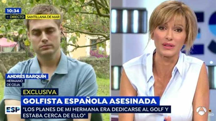 Susanna Griso no puede reprimir las lágrimas al entrevistar al hermano de Celia Barquín