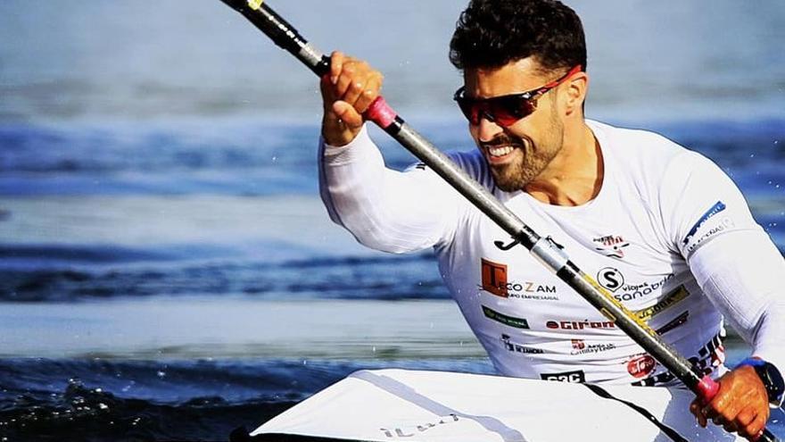 Carlos Garrote, séptimo en el Mundial con el K4 español