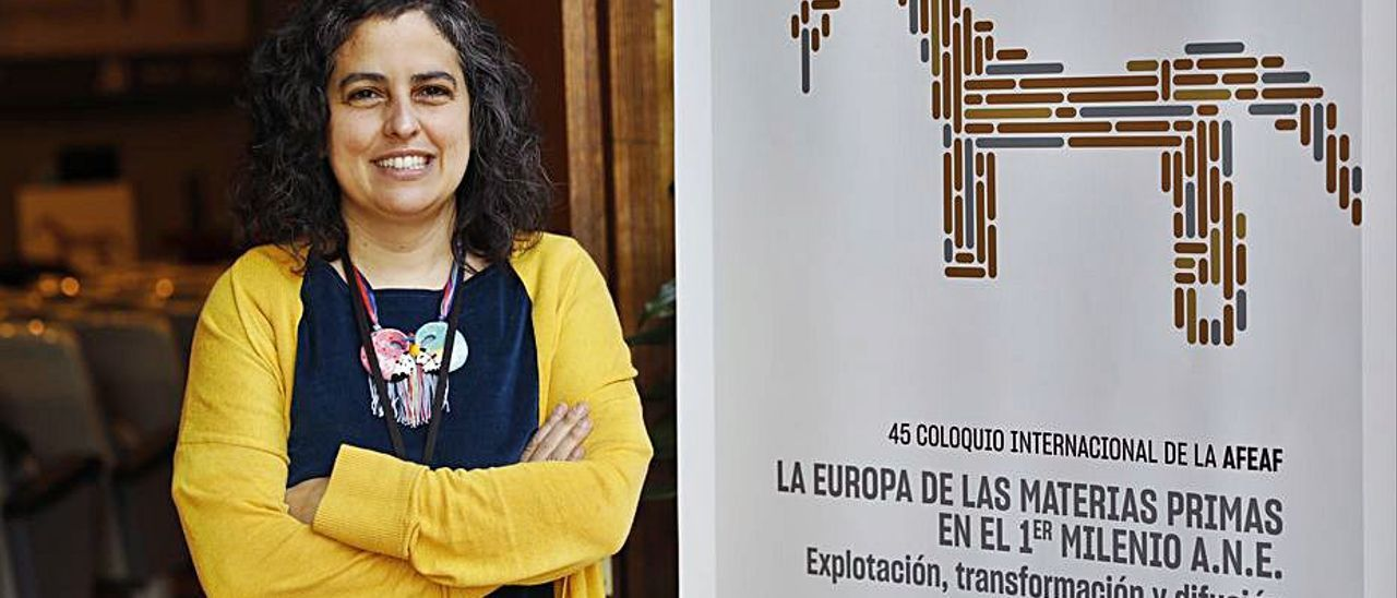 María Martín-Seijo, ayer, en el recinto ferial Luis Adaro. | Marcos León