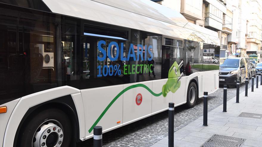 Tranvías prueba un autobús eléctrico en la línea 6