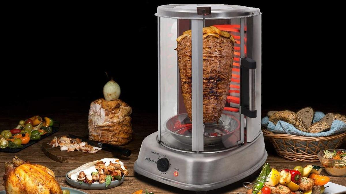 Rostizadores verticales para disfrutar de un kebab en casa.