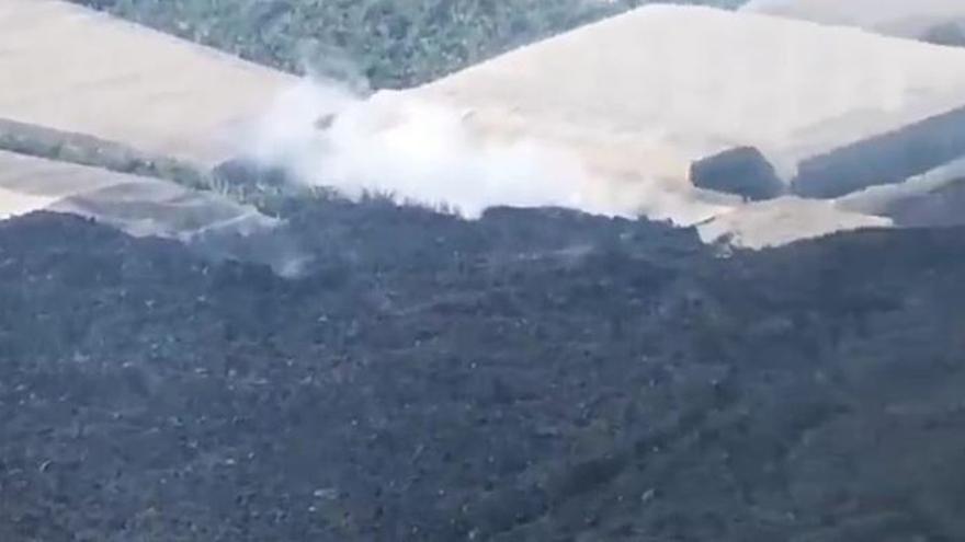 Coladas del volcán de La Palma en La Laguna
