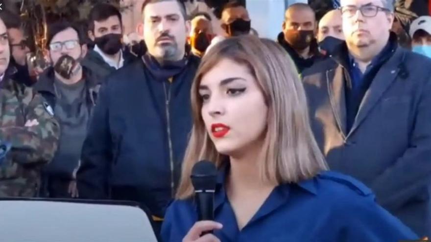 La Policía atribuye un delito de odio a la joven falangista que denigró a los judíos