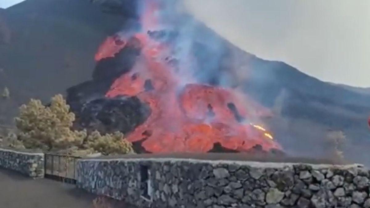 La Palma volcano lava drags blocks the size of three-story flats |  LP / DLP