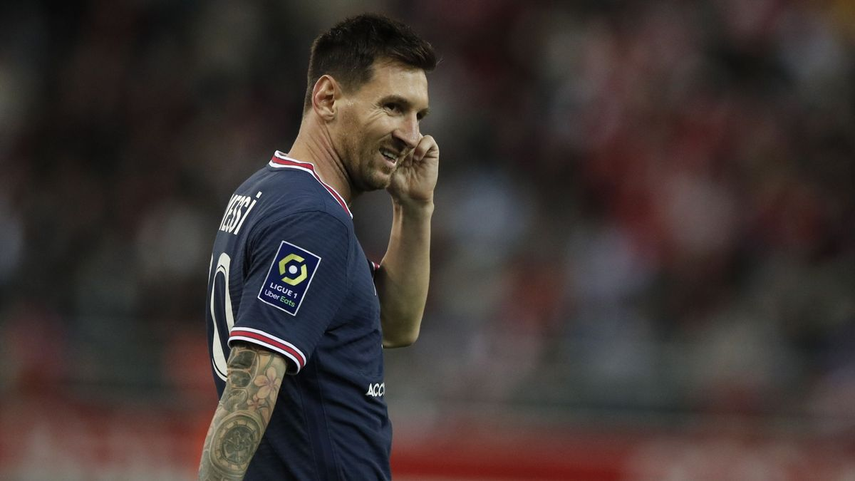 Lionel Messi, in a match with PSG.
