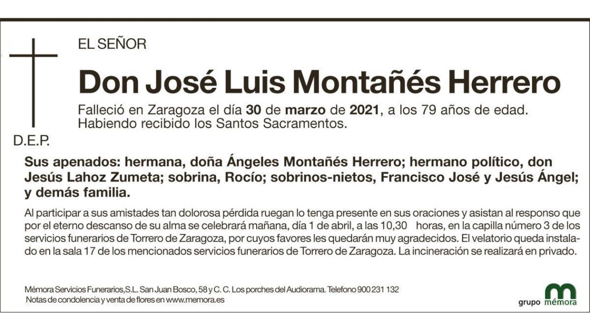 José Luis Montañés Herrero