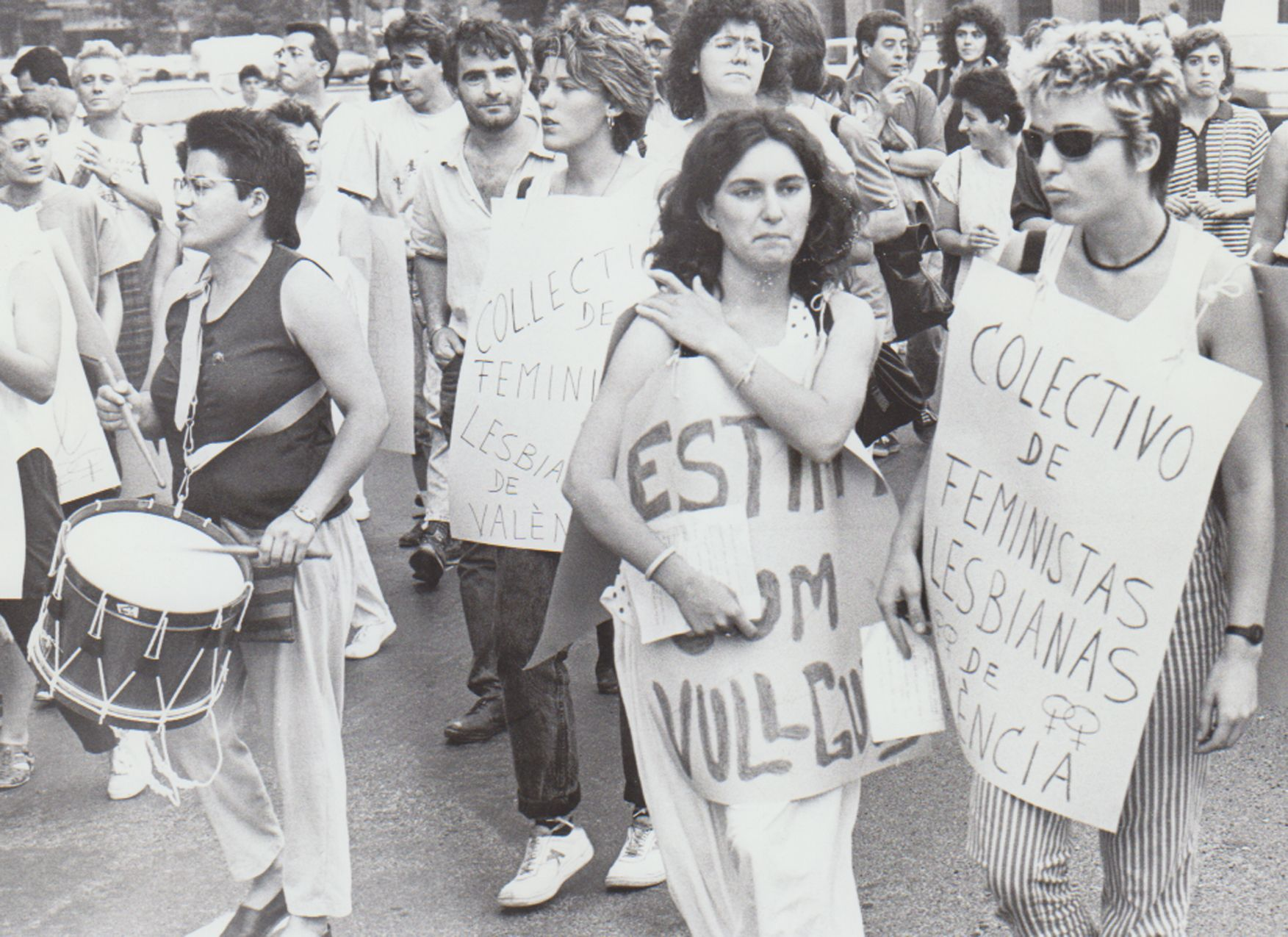 Manifestación de gais y lesbianas en 1988