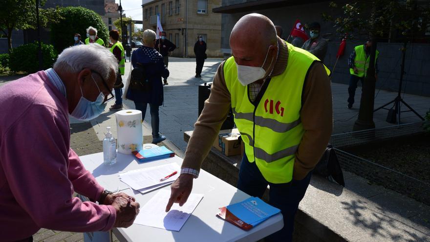 Cangas clama contra las pensiones de menos de 706 euros