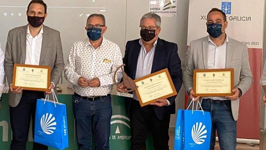 El Lar Gallego de Sevilla reconoce al Ayuntamiento de Monesterio su promoción de la Vía de la Plata