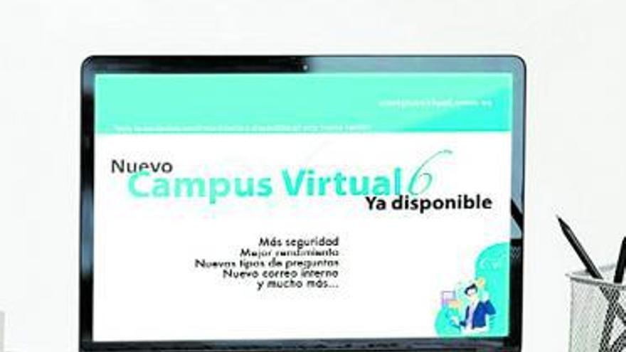 El campus virtual se renueva con mejoras en seguridad y la gestión de actividades