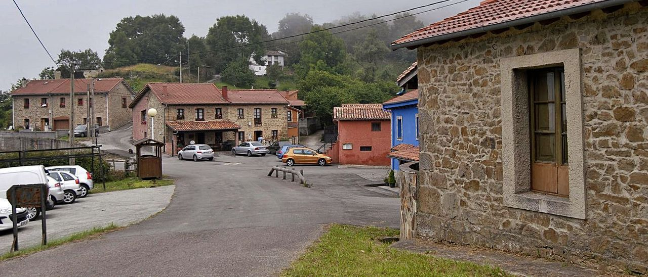 La localidad langreana de La Teyera.   F. Rodríguez