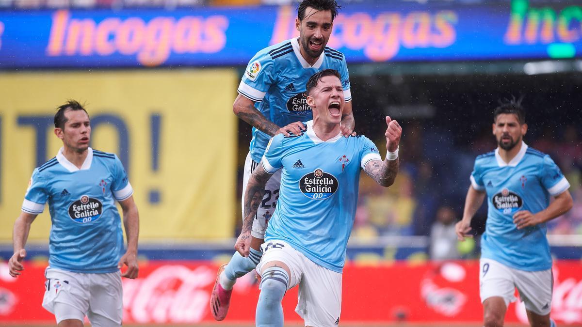 Santi Mina adelantó en dos ocasiones al Celta ante el Villarreal