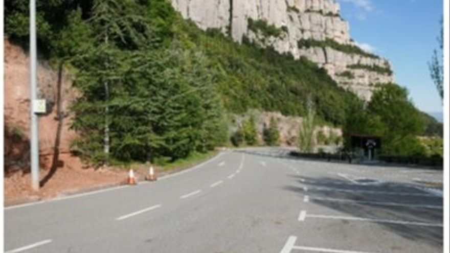 Comencen les obres de millora de la protecció dels talussos de l'aparcament de Montserrat