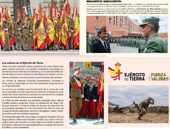 """Imágenes con las que se da a conocer la """"Marca Ejército""""."""