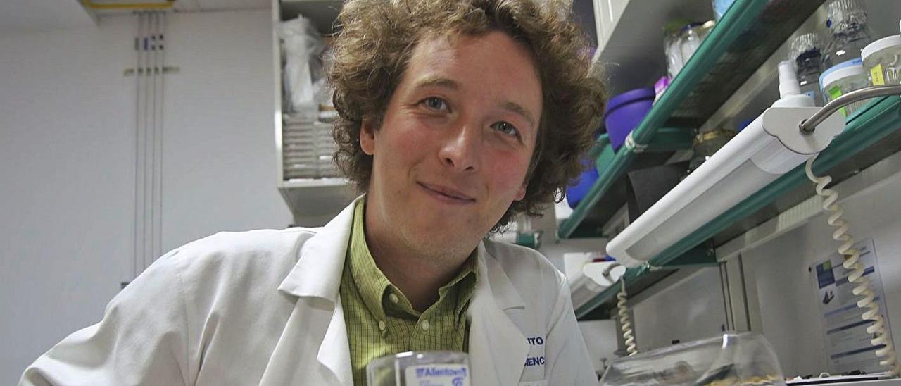 El científico francés Felix Leroy, este lunes, en el Instituto de Neurociencias de la UMH.