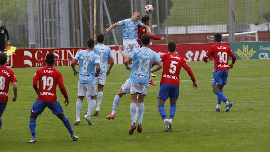 Sporting B y Pontevedra empatan con polémica