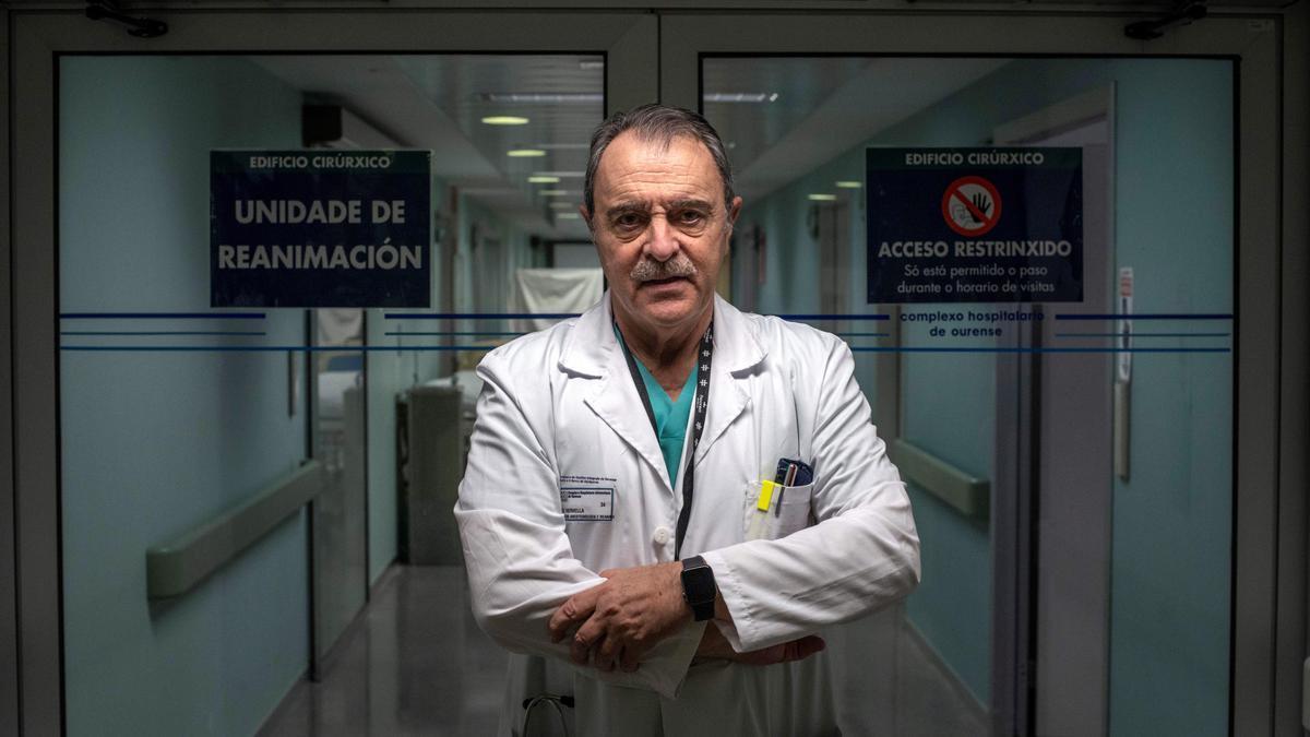 El jefe del servicio de Anestesiología y Reanimación del Complexo Hospitalario de Ourense (CHUO), Fermín Domínguez