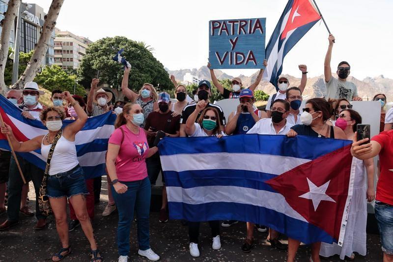 Manifestación por la libertad en Cuba