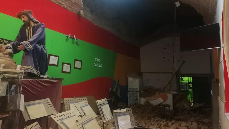 El derrumbe de una bóveda daña la sede de la Banda de Cornetas en el Alcázar de Toro