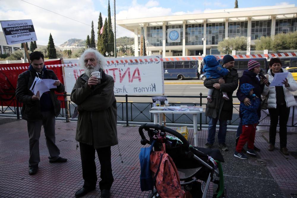 Protestas contra Donald Trump en Grecia