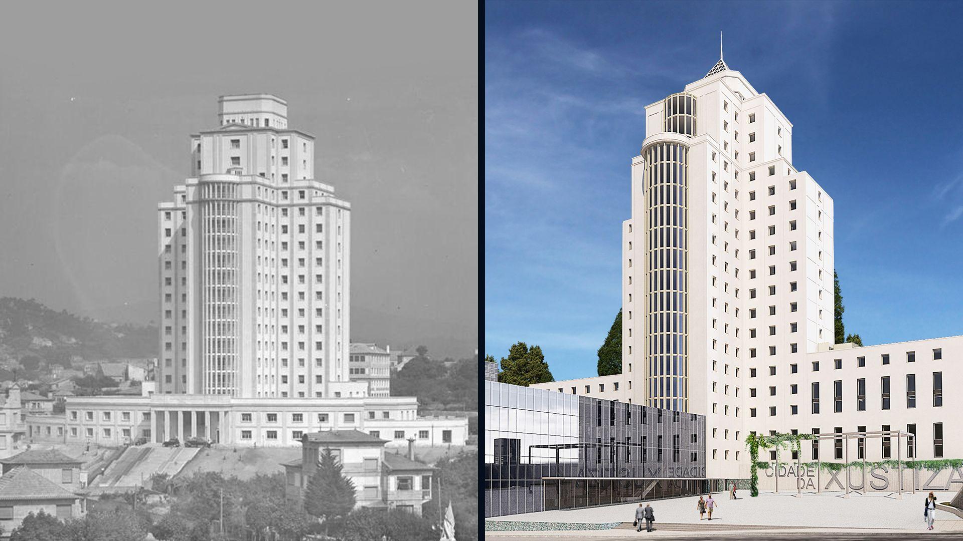 Los arquitectos que cambiaron Vigo: César Portela, Alfonso Penela, Jesús Irisarri y Guadalupe Piñera.