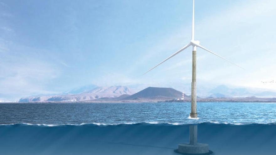 Arinaga recibe el equipamiento del nuevo aerogenerador de Gamesa