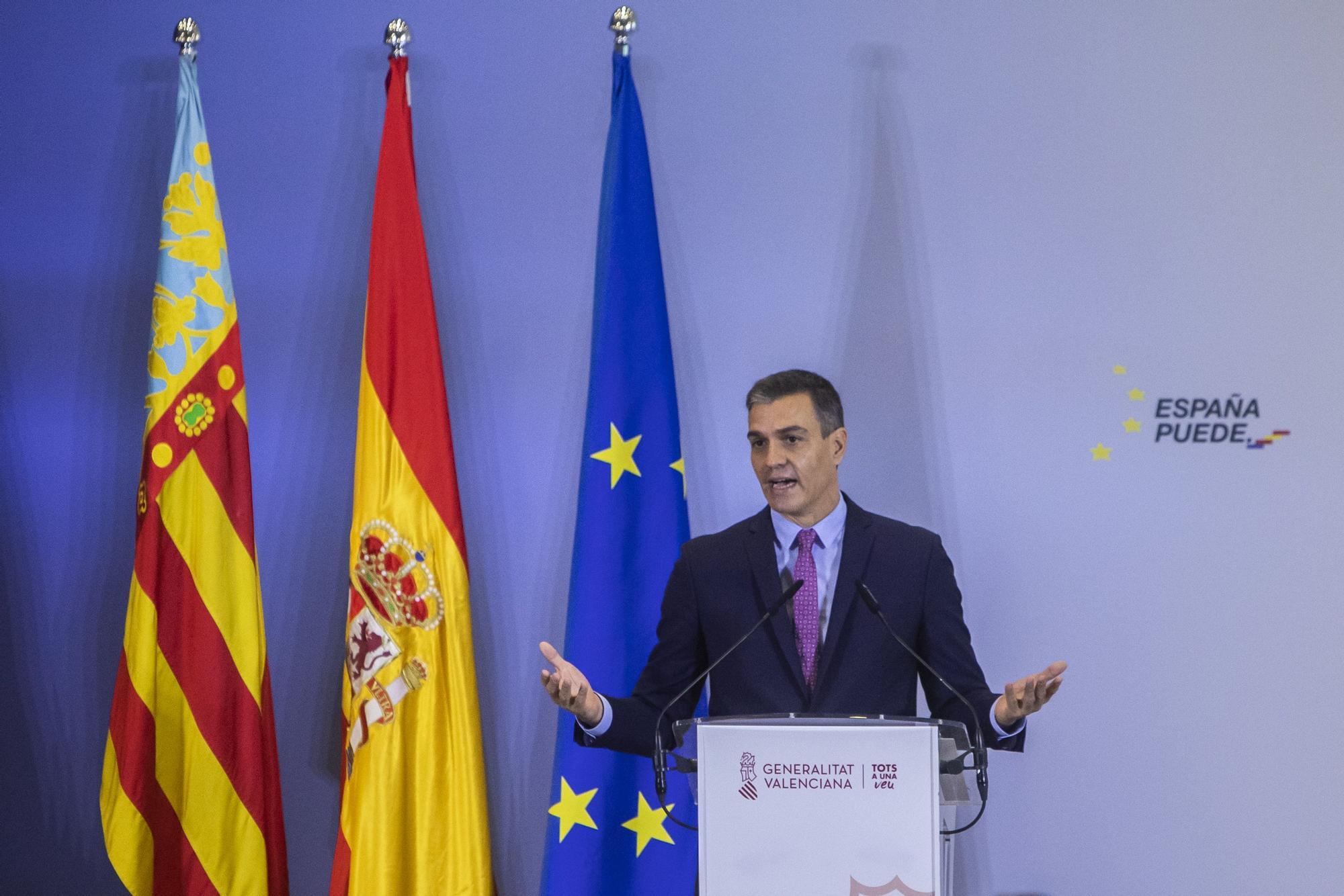 Pedro Sánchez presenta en València el Plan de Recuperación
