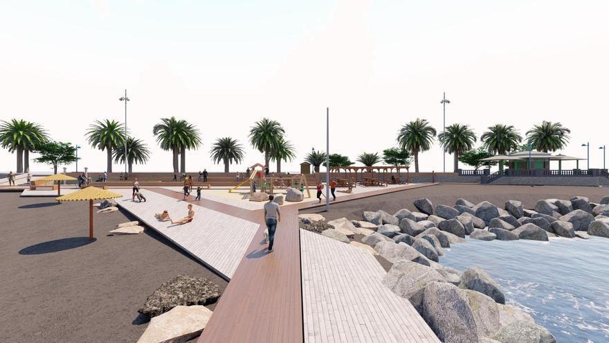 Invierten 350.000 euros en la mejora del paseo de la playa de La Punta, en San Sebastián de La Gomera