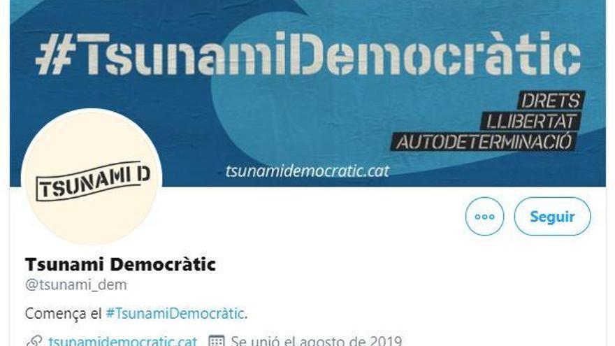 Tsunami Democràtic dona alternatives al bloqueig de l'Audiència Nacional