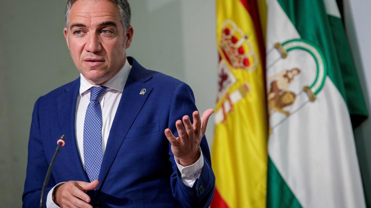 Bendodo, tras la reunión del Consejo de Gobierno de la Junta de Andalucía en Sevilla